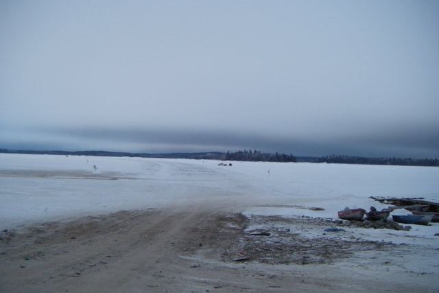 The ice road begins